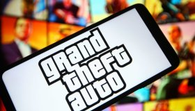 In this photo illustration a Grand Theft Auto (GTA) logo of...