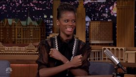 Letitia Wright during an appearance on NBC's 'The Tonight Show Starring Jimmy Fallon.'