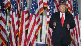 Donald Trump Holds Rally At Iowa State Fairgrounds