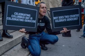 Activists from New Yorks Indigenous and Black communities...